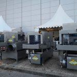 3 modèles de laveuse de caisses, construction en acier inoxydable