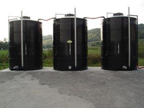 Cuve de stockage des effluents et des traitements