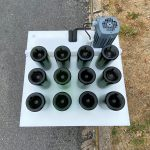 Bac de congélation des cols, 12 trous avec bouteilles champenoise