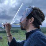 Visière de protection contre le coronavirus - possibilité de boire avec la visière